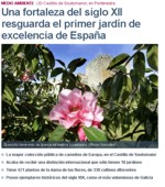 A fortress dating from the 12th century protects the first International Garden of Excellence in Spain